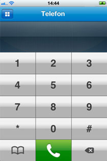 iPhone App Tastaturbildschirm
